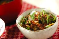 水菜と油揚げのサラダ