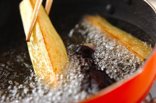 炒め揚げナスの秋サラダの作り方の手順3