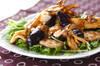 炒め揚げナスの秋サラダの作り方の手順