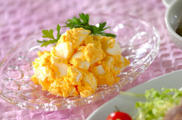 ひと手間でなめらか!卵だけサラダ