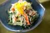 青菜のユズ風味白和えの作り方の手順