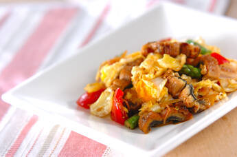 ウナギと卵の炒め物