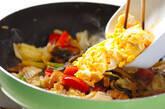 ウナギと卵の炒め物の作り方4