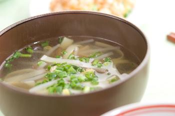 モヤシと筍のスープ