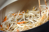 肉みそ素麺の作り方1