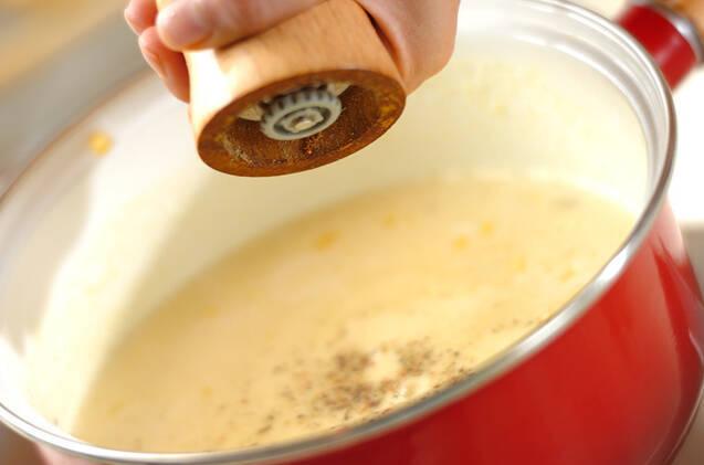 マカロニ入りコーンスープの作り方の手順3