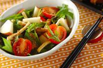 リンゴと水菜のサラダ