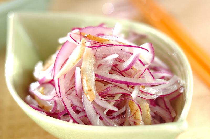 5.玉ねぎとごぼうのサラダ