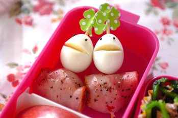 プチトマトのベーコン巻き