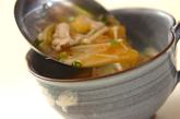 キムチと豚肉のスープの作り方2