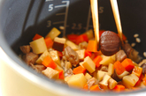 おこわ風炊き込みご飯の作り方4