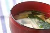 豆腐とミツバの吸い物