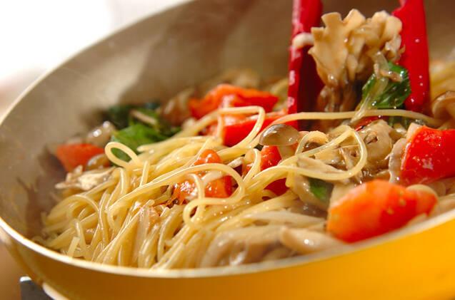 キノコのスパゲティーの作り方の手順8