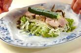ゆで鶏の素麺生春巻きの作り方3