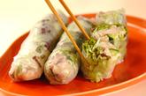 ゆで鶏の素麺生春巻きの作り方4