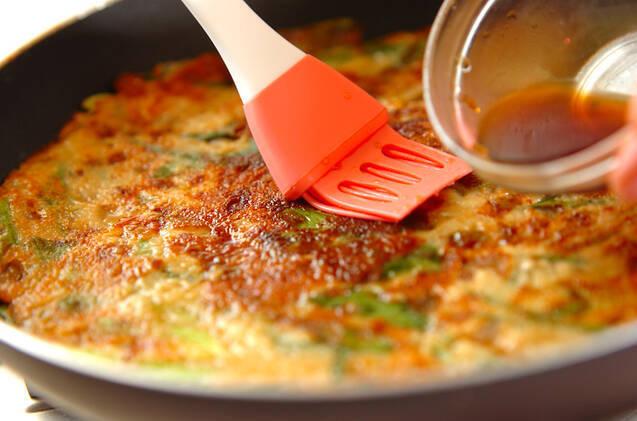 コンニャクのもちもちネギ焼きの作り方の手順5