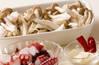 シメジとタコのパスタの作り方の手順1
