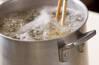 シメジとタコのパスタの作り方の手順2