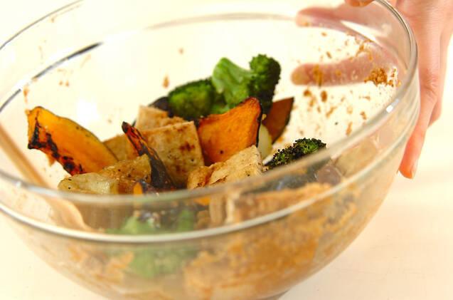 焼き野菜と油揚げのゴマ酢和えの作り方の手順7