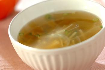 エノキと玉ネギのスープ