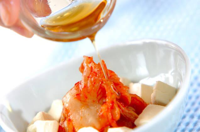 キムチのチーズ和えの作り方の手順3