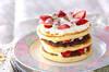 春のホットケーキの作り方の手順