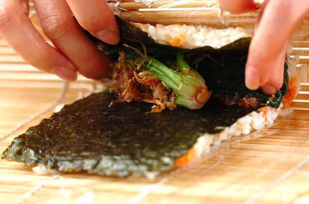 ロール白菜のゴマ油炒めの作り方の手順2
