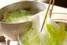 白菜のゴマ酢和えの作り方の手順1
