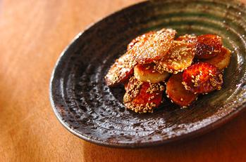 焼き里芋の甘辛焼き