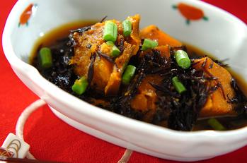 カボチャとヒジキのカレー炒め煮