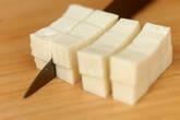コロコロ豆腐のパスタの作り方1