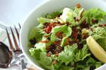 カリカリベーコンとレタスのサラダ