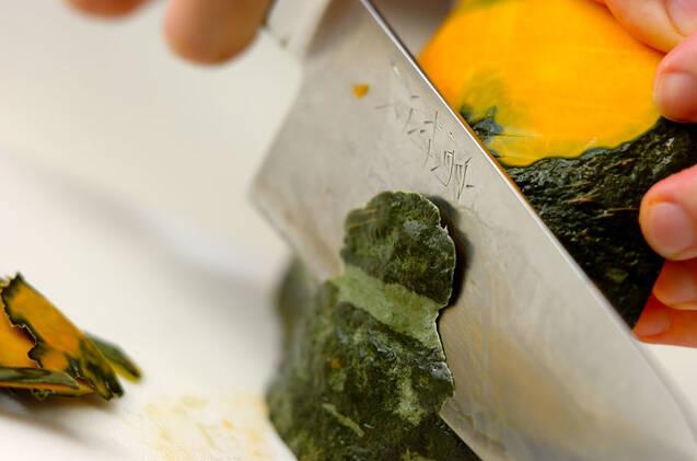 カボチャの冷製豆乳ポタージュの作り方の手順1