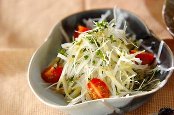 大根とスプラウトのサラダ