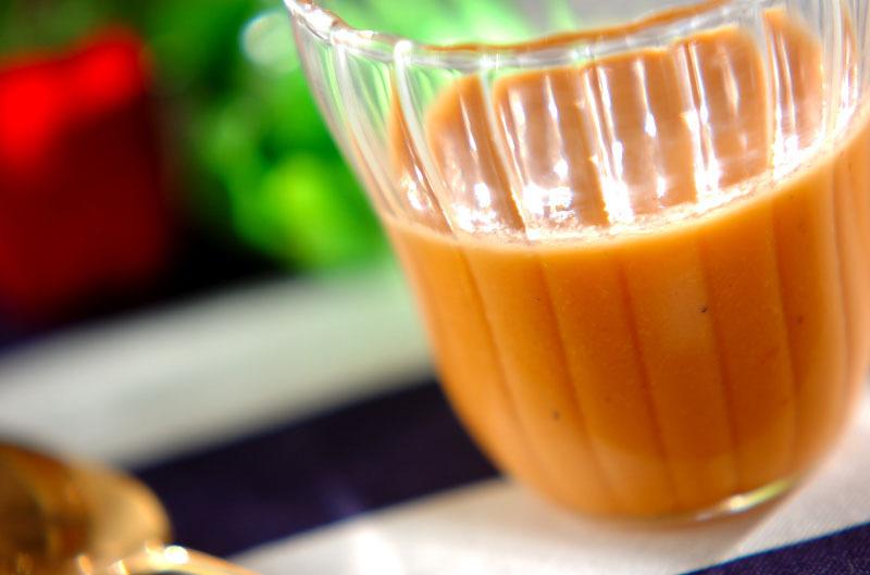 冷製スープのガスパチョ