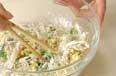 ツナとコーンのかき揚げの作り方1
