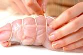 きんぴらの鶏肉ロールの作り方2