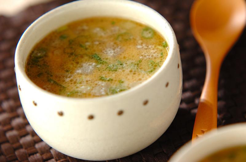 3. おいしい! 大根とひき肉の酒粕スープ