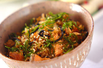ヒジキと鮭のヘルシーご飯