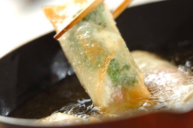 長芋とベーコンの春巻きの作り方の手順7