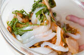 イカ納豆のキムチ和えの作り方2