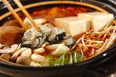 カキのキムチ鍋の作り方12