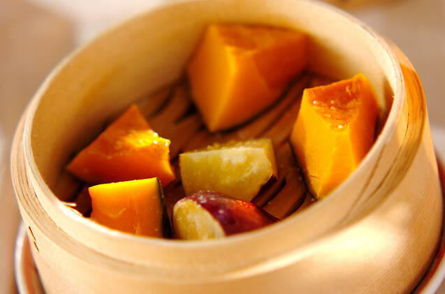 蒸しカボチャ&サツマイモ