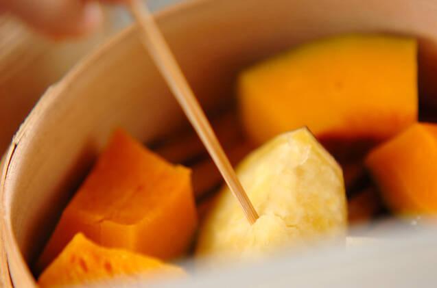 蒸しカボチャ&サツマイモの作り方の手順3