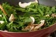 ニラと菊菜の卵とじの作り方1