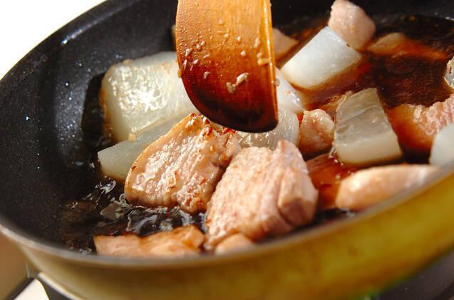 大根と豚肉の中華煮の作り方の手順7