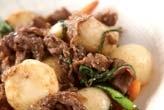 牛肉と里芋のソース炒め