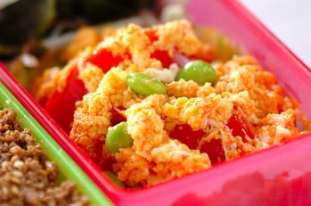トマトと枝豆の炒め卵