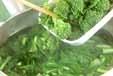 菜の花の煮びたしの下準備1