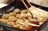 豆腐入りふんわり鶏肉団子のスープ煮の作り方3